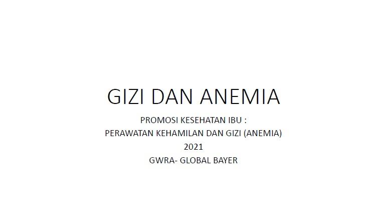 Materi Gizi dan Anemia